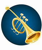 Trumpet music instrument
