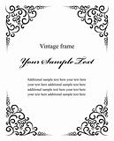 vintage decoration frame