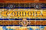 Cordoba sign, Spain