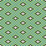 Decorative texture with green motifs