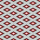 Decorative texture with red and grey motifs