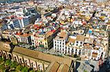 aerial view of the old town of Seville, Spain