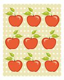 Cute apple background