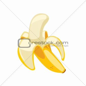 Cartoon banana isolated