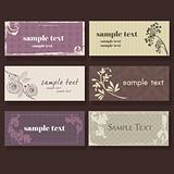 Set of colorful elegant cards