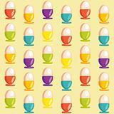 Background with cartoon egg cups