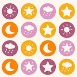 Colorful background with dots
