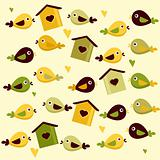 Cute birds background