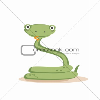 Cartoon snake isolated