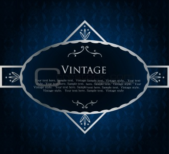Blue Label Template. Vector