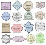 Set ancient style label. Vector