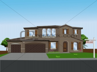 Foreclosed Vector Home