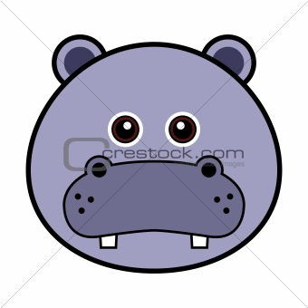 Cute Hippo Face