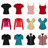Female Woman Girl Shirt Blouse Tops Cloth Clothing