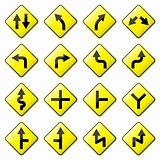 Road Sign Glossy Vector (Set 1 of 8)