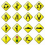 Road Sign Glossy Vector (Set 2 of 8)