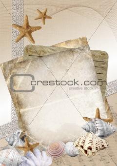 Beautiful card for congratulation or invitation