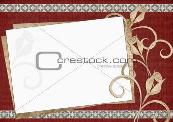 Card for congratulation or invitation