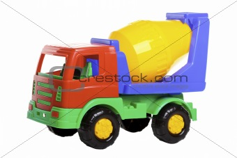Cement Mixer Truck isolated on white.