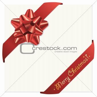 Christmas bow and ribbons