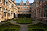Manicured European Garden Courtyard Antwerp Horizontal