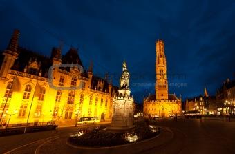 Grote Markt Brugge Night