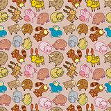 Seamless cartoon animal pattern,(vector)