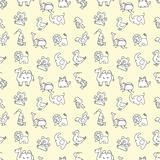 seamless cute animals pattern,vector illustration