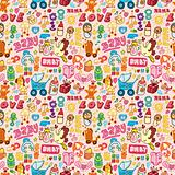 cartoon baby seamless pattern