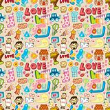 seamless cute cartoon pattern(vector)