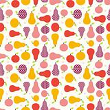 apple pear seamless vector pattern