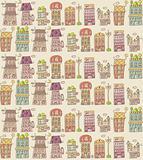 house seamless pattern,vector illustration