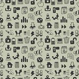 Seamless web icon pattern. Vector illustration