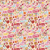 cute love element seamless pattern