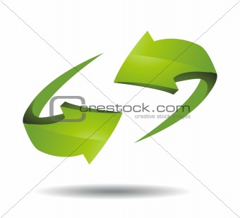 Arrow 3d icon vector illustration