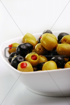 olives, stuffed with red peppers