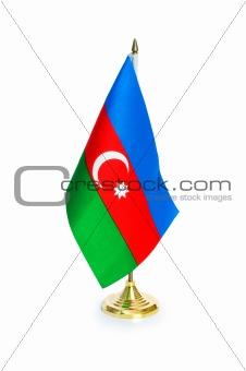 Flag of Azerbaijan isolated on the white