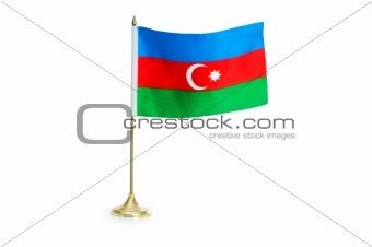 Flag of Azerbaijan isolated on the white