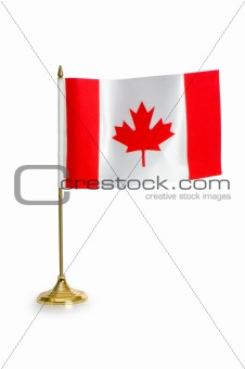 Canada flag isolated on white background