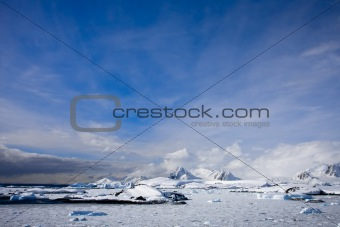 Beautiful snow-capped mountains