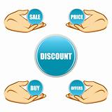 sale and discount tags