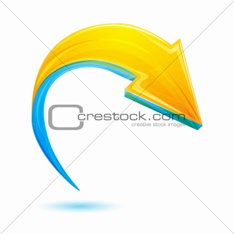 abstract vector arrow