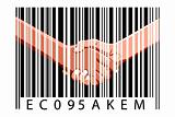 business deal with bar code