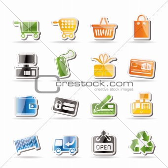 Simple Online Shop icons