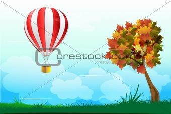 parachute with tree