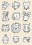 cute cartoon animal face