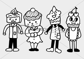 cake family draw