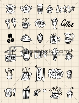 hand draw coffee element