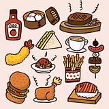cute cartoon food
