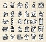 hand draw cute house